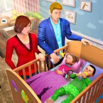 Virtual Mother Baby Twins Family Simulator Games  1.1.4